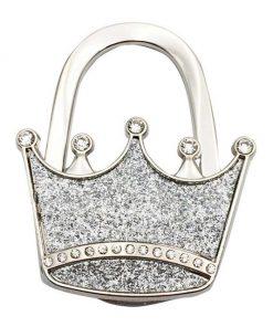laukkukoukku kruunu hopea